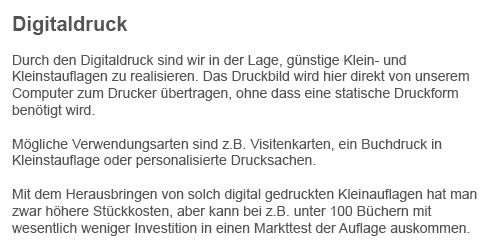 Digitaldruck aus  Stapelfeld